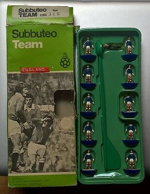 Subbuteo Scozia Team In Box Originale Rare Football Hw Completo Ref 318 Zombie