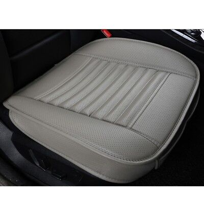 Grey 3D Universal Bamboo Charcoal Cushion Seat Pad PU Leather Car Seat Covers
