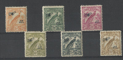 NEW GUINEA  1932: mint Bird of Paradise Air oddments to 6d in a mixed condition