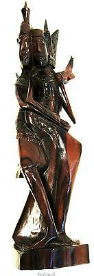 "Balinese Rama Sita Statue Hand Carved Sono Wood 31.5 cm / 12"" Tall"