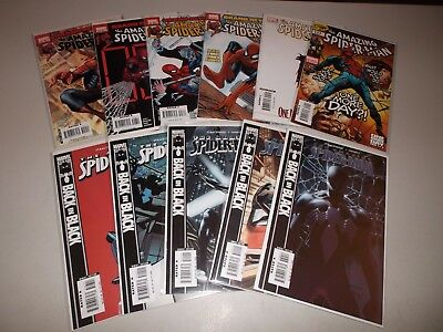Amazing Spider-Man #539-549 (Complete lot of 11) Back in Black, Death Aunt May