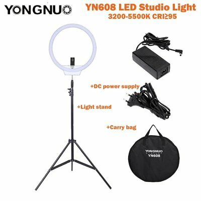 Yongnuo RGB YN608 5500K Wireless Ring SMD LED Light For Portrait Macro Selfie