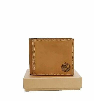 Genuine Timberland Wallet Wheat - Nubuck Leather - Coin Pocket - New in Box.
