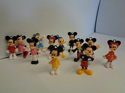 Mickey/minnie Mouse Mini Toy Figure Set/key Ring Set/cake Topper - 12 Pcs
