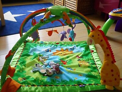 Tapis d'éveil Fisher Price + hochet Moulin Roty