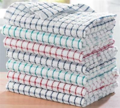 Pack Of 15 Terry 100% Cotton Tea Towels Set Kitchen Dish Cloth Cleaning Drying S