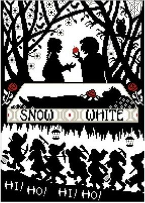 Snow White and the Seven Dwarfs. 14CT Counted Cross Stitch. Craft Brand New