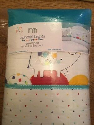 Mothercare Alphabet Brights Bumper  For A Cot Or Cotbed