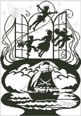 Peter Pan. Fairytale. 14CT Counted Cross Stitch. Craft Brand New