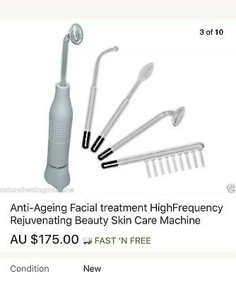 Anti Ageing Facial Treatment Rejuvenating High Frequency Beauty Skin Electric