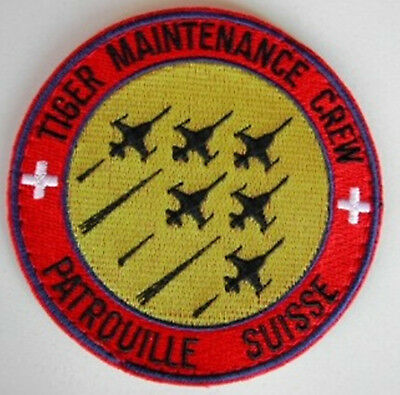 Original Swiss Air Force Patrouille Suisse Maintenance Crew mit Klett rare