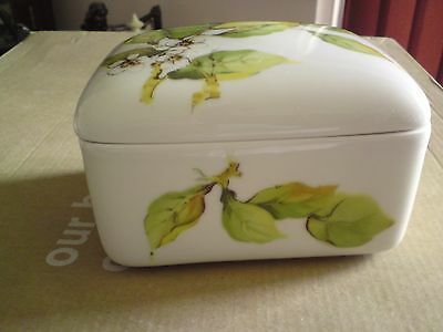 Butter Dish Fruits Pattern ,vgc, Free-Mailing.