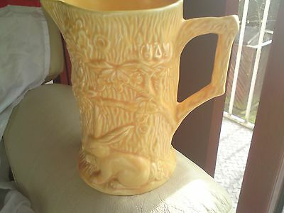 Rare Antique Wade Pottery Jug, Orange, 169, (Large) Rabbit.