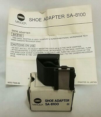 Boxed Minolta SA-8100 Shoe Adaptor/Adapter for Microphone