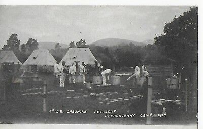 5th V B Cheshire Regiment, Abergavenny Camp, 1907, posted to Newhaven, date?