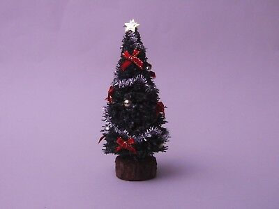 """Dolls House 1/12 Decorated Hand Made 4"""" Christmas Tree"""