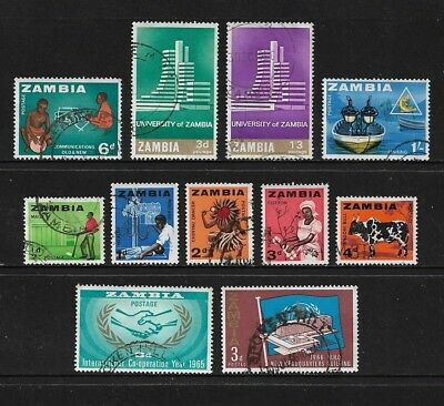 ZAMBIA - mixed collection No.2, 1964-1966 pre-decimal, used