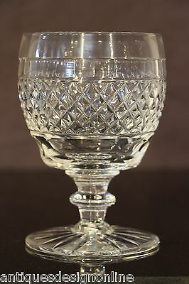 BIG antique crystal toasting GOBLET Scottish cut glass wine chalice Victorian
