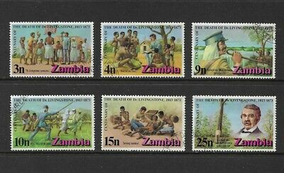 ZAMBIA - 1973 Death Centenary of Dr Livingstone, set of 6, used