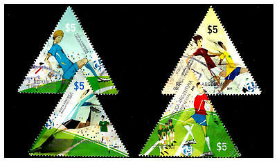 Argentina Triangle Football Stamps. 2011.Used. #687