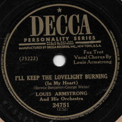 "78er Jazz Louis Armstrong Orchestra ""Maybe It's Because"""
