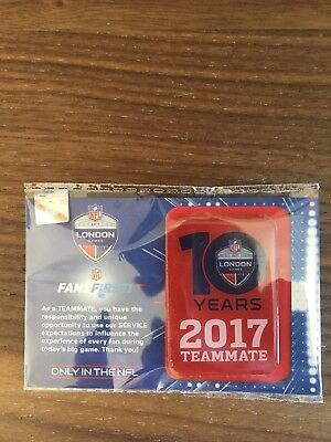 NFL 10 years 2017 Teammate pin badge