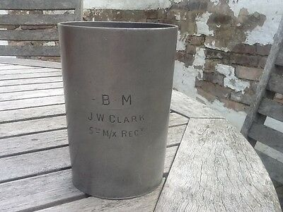 Middlesex regiment 1 pint tankard, made by WR Loftus, London. Stampted GR