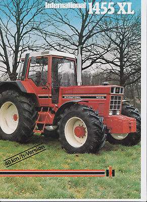 landwirt. Prospekt, IHC, International Traktor 1455XL, 100% original