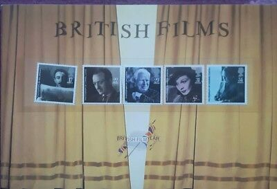 (BX) British Films 1985 Royal Mail Booklet with stamps