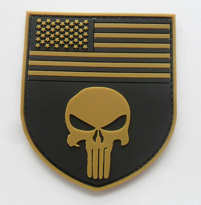 Punisher Skull Tactical Usa Flag Military    Patch New    Sjk  + 344