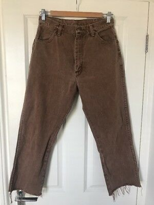 Wrangler, Vintage Brown Wash Jeans, High Waisted, W27