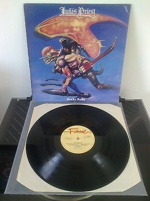 Judas Priest 'Rocka Rolla' vinyl LP - Fame FA4131371 1981 re-issue