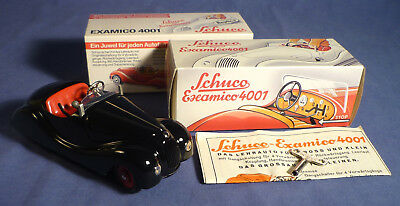 SCHUCO Examico 4001 Blech Auto OVP schwarz Replica tin toy car boxed black B173