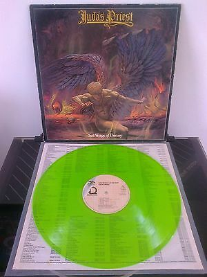 Judas Priest 'Sad Wings Of Destiny' green vinyl LP - Line Records OLLP 5376