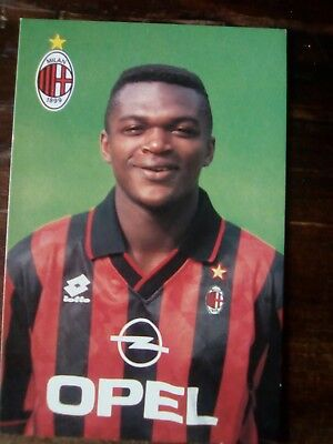 CARTOLINA UFFICIALE ac MILAN 1995/96 1996 Marcel Desailly