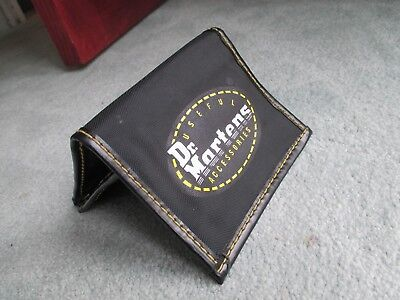 Dr Martens Nylon Wallet Black - Yellow Card Change Holder.