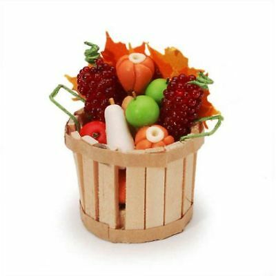 Miniature Dollhouse Fairy Garden Harvest Fruit Basket - Buy 3 Save $5