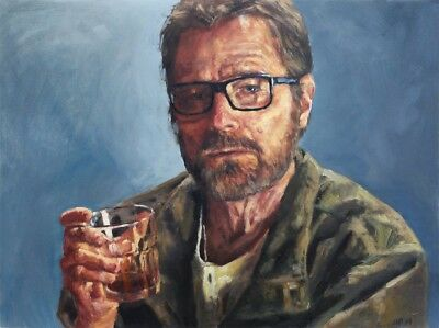 Breaking Bad Walter White ART PRINT from original oil painting 13x19in