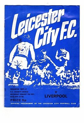 1971-1972 Leicester City v Liverpool FA Charity Shield