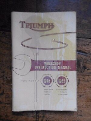 Triumph Workshop Book Motor Cycle Speed Twin Thunderbird Tiger Trophy 1961