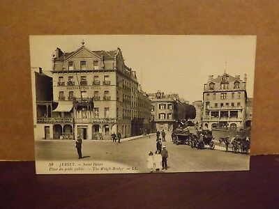 Vintage Postcard Jersey Ll 59..st Helier - The Weigh - Bridge..unposted...