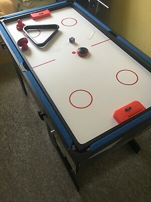Pool Table/Football/Hockey/Table Tennis Kids 4ft Folding Multi Game Table 4 in 1
