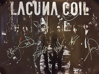 Large Lacuna Coil Cristina Scabia Autographed Signed Poster Mint Condition