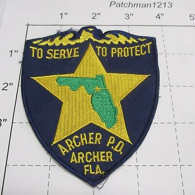 Archer Police Dept Apd Archie Star Eagle State Shape Arch Colorfl Florida  Patch
