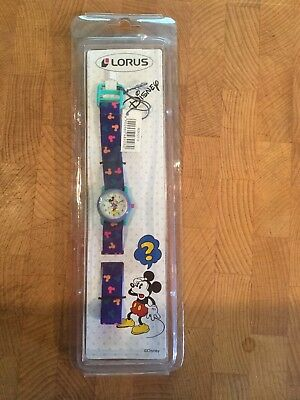 Vintage Disney Watch Micky Mouse New Unopened By Lorus