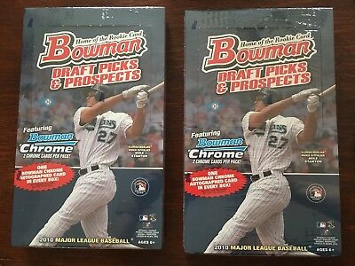 2010 Bowman Draft Picks & Prospects Baseball Box Hobby Factory Sealed LOT OF 2