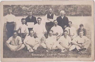 Rp Brinkley Cricket Team 1922 Real Photo By Chapman Witham Cambridgeshire