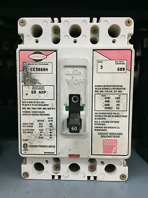 Federal Pioneer FPE Horizon CE3060N 3 Pole 60A 600V *GUARANTEED*