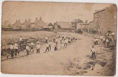 Rp Workmen Digging Out River Canal Ely ? Mill   Cambridgeshire ? C 1918