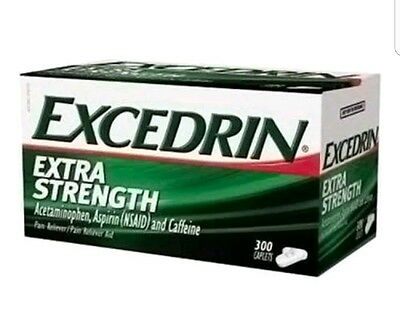 300 Excedrin Extra Strength 300 Caplets Headache Pain Reliever Acetaminophen
